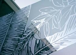 Vitrophanies par l'artiste Clara Langelez