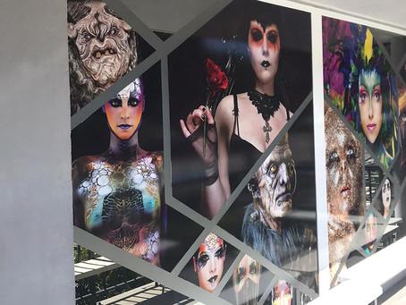 Vitrophanie école de Maquillage : Métamorphose