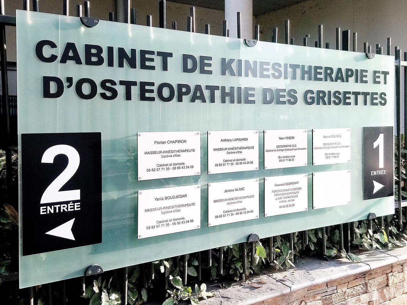 Signalétique Cabinet d'ostéopathie