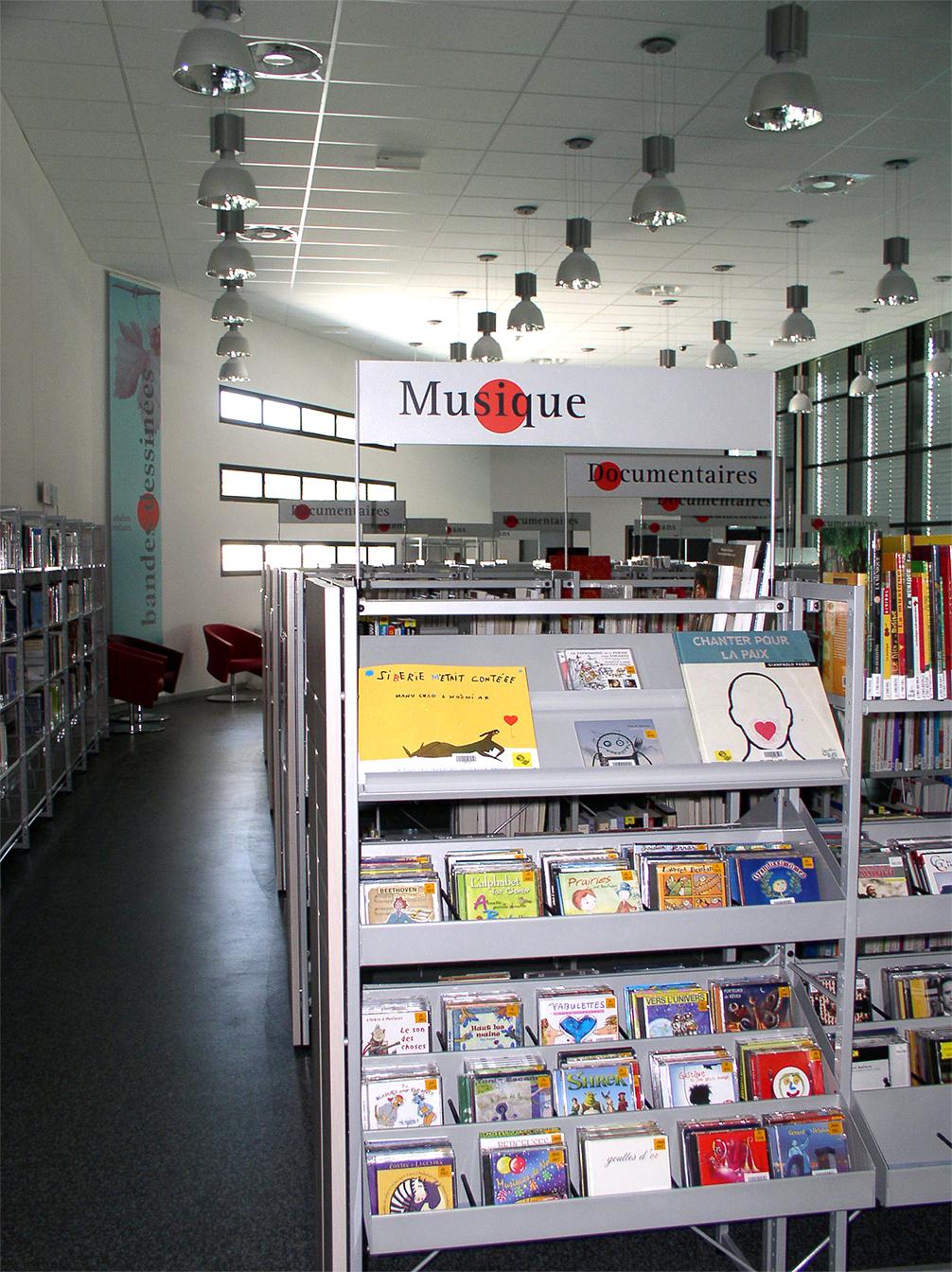 Signalétique Mediatheque Castrie