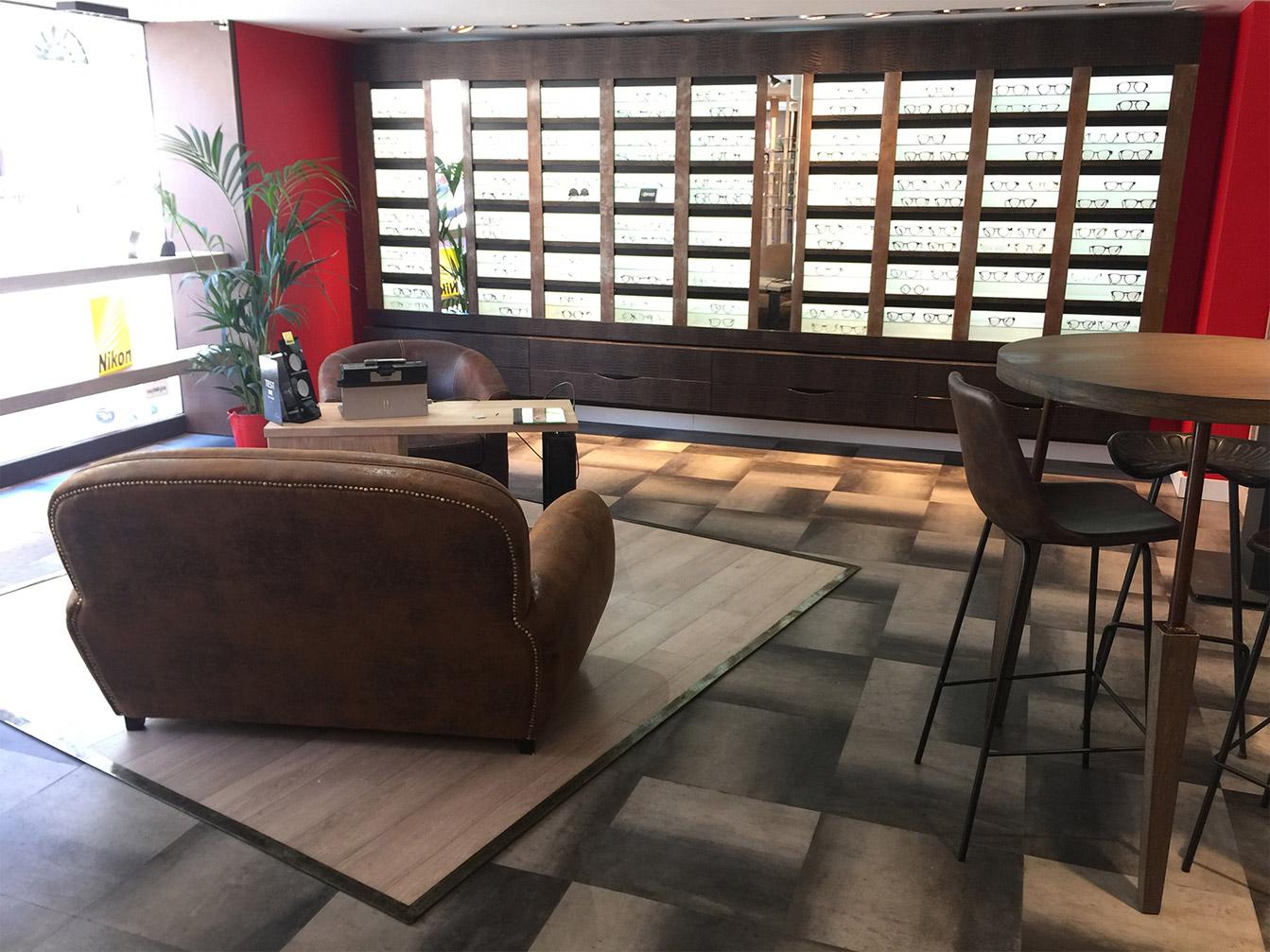 Boutique Opticien : Relooking meuble