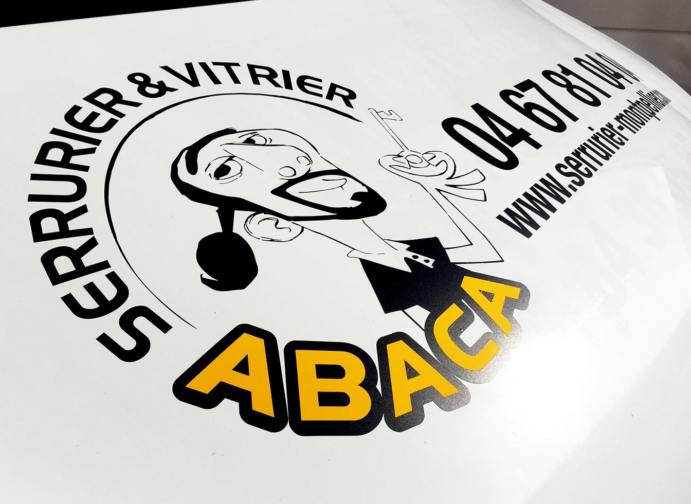 Marquage véhicule pour ABACA