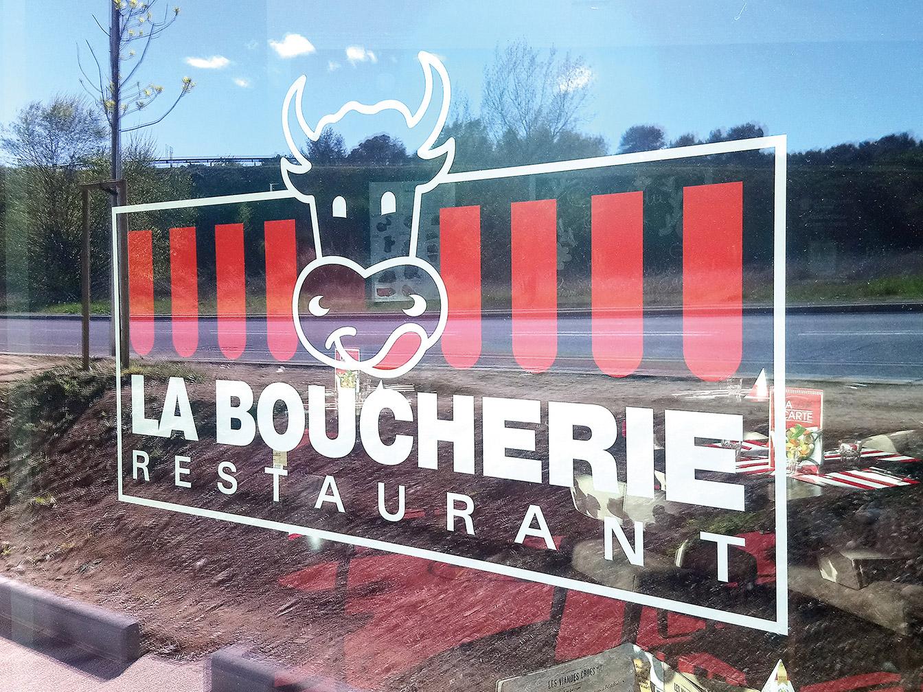 Vitrine La Boucherie St Gély