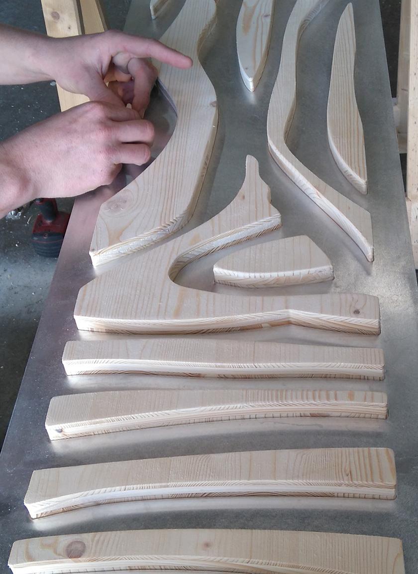 assemblage bois et aluminium