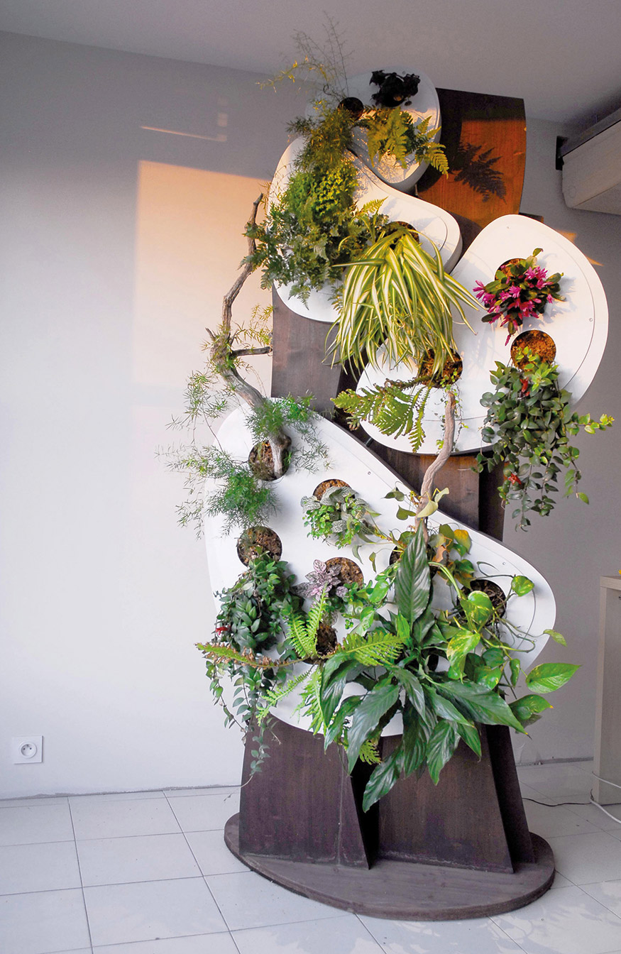 Structure végétalisée
