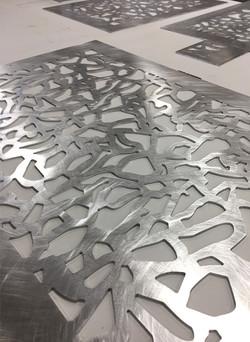 Aluminium brut ajouré