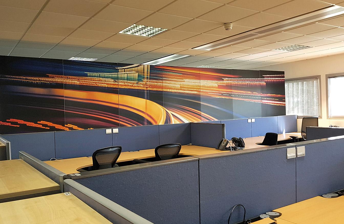Décoration bureau : Mur d'image