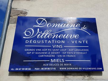 Signalétique : Domaine de Villeneuve