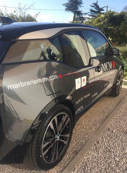 Marquage véhicule : Marbrerie MCM