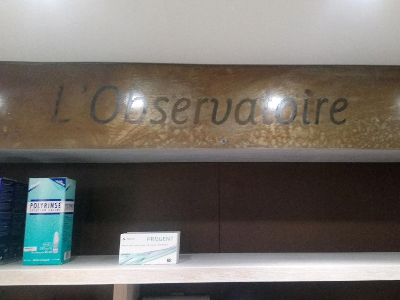 Boutique Opticien : décoration
