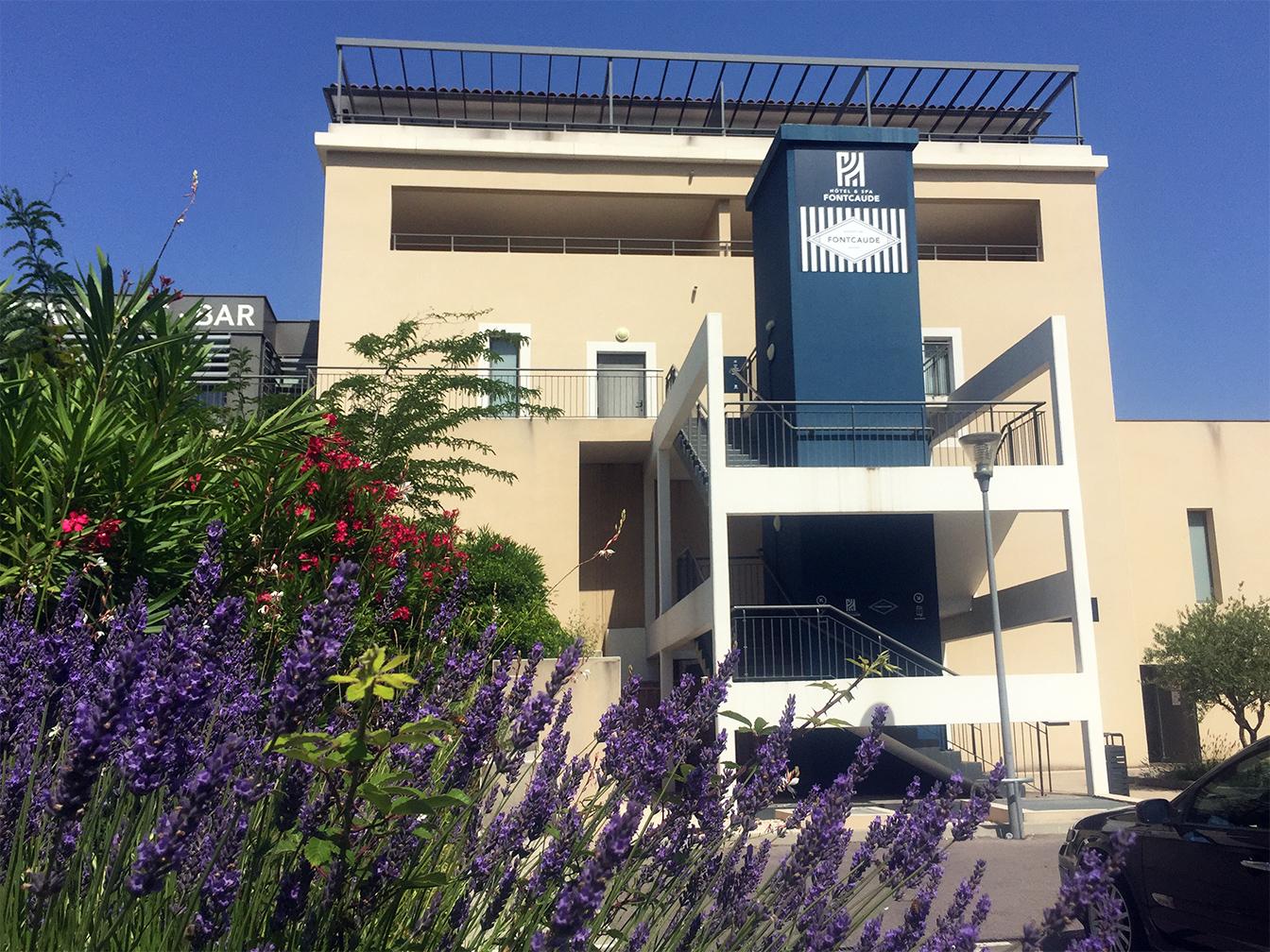 Hôtel & Spa de Fontcaude : Signalétique extérieure