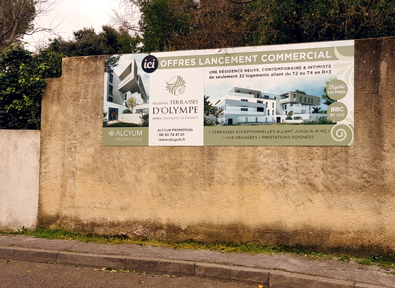 Projet Résidence Les Terrasses d'Olympes : Chantier