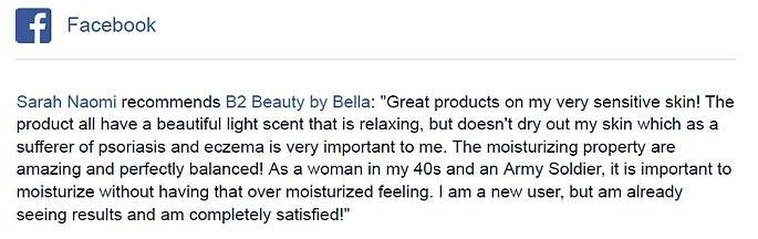 Sarah Naomi feedback