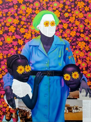 Sun flower mother