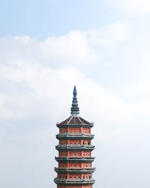 A pagoda in the skies.