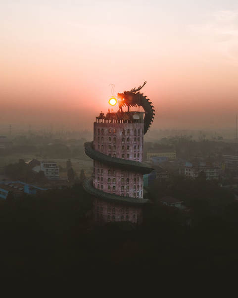 The dragon temple.