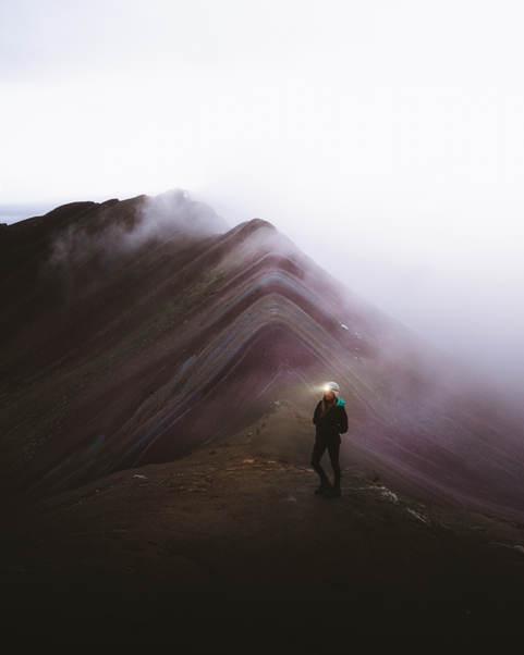 Foggy Rainbow Mountain.