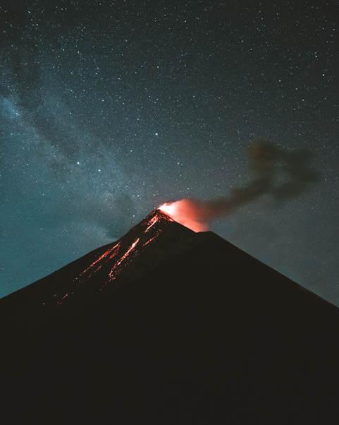 Fuego erupting.