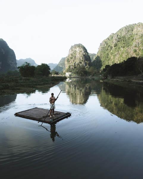 Morning exercise in Vietnam.