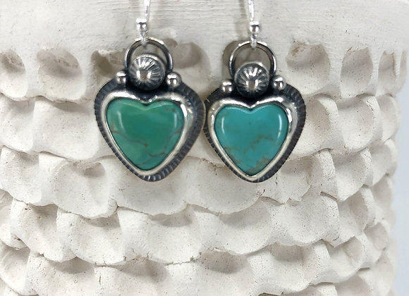 Campitos Turquoise Heart Earrings