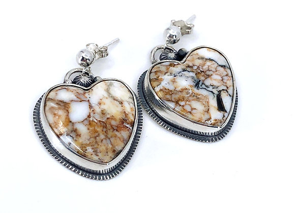 Wild Horse Jasper Heart Earrings