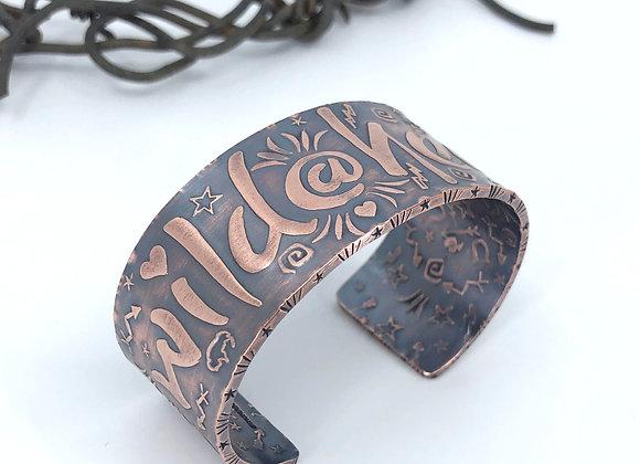 """Wild@Heart"" Copper Cuff"