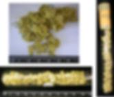 Губчатое золото в виде мелких самородков (в пробирке)