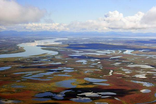 The Anadyr lowland, the river Velikaya