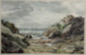 Мозаичное панно «Скалистый берег» (флоренитйская мозаика)