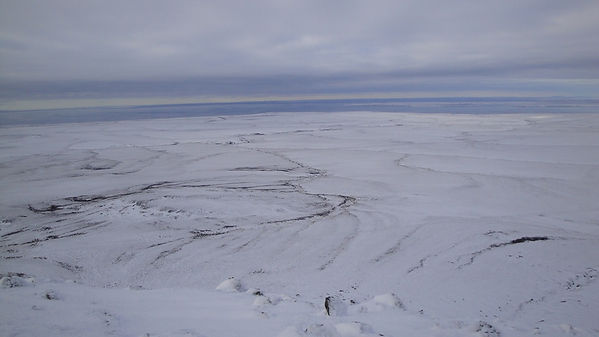 The view from the mountain of Dionysiya in winter