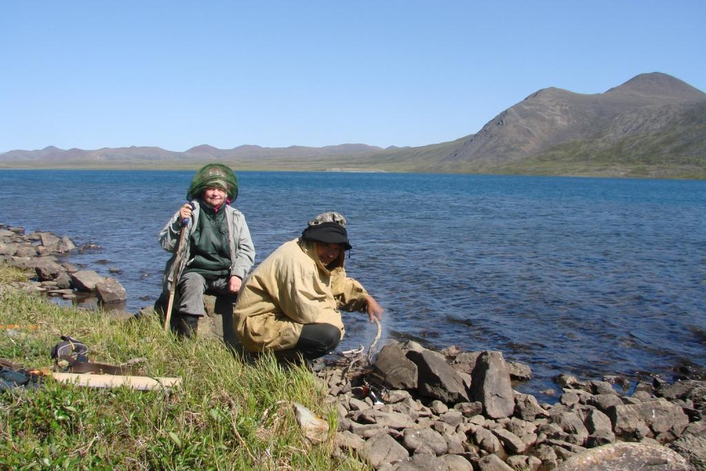 В маршруте на озере Раучувагытгын, 2011 г.