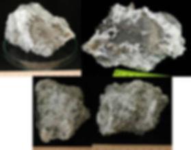 Самородное серебро в кварце