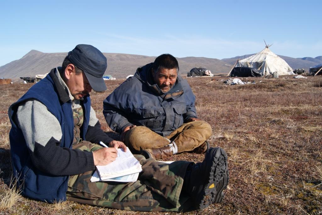 Работа с главным героем фильма Б.Ф. Вуквукаем «Книга тундры. Повесть о Вуквукае - Маленьком Камне» (сентябрь 2010)