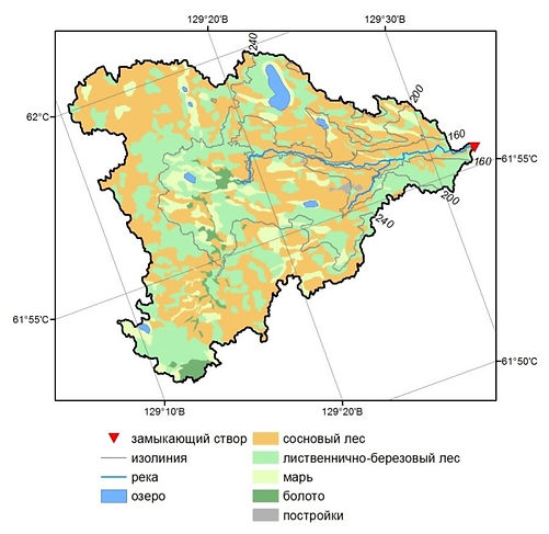 The drainage basin of the Shestakovka river