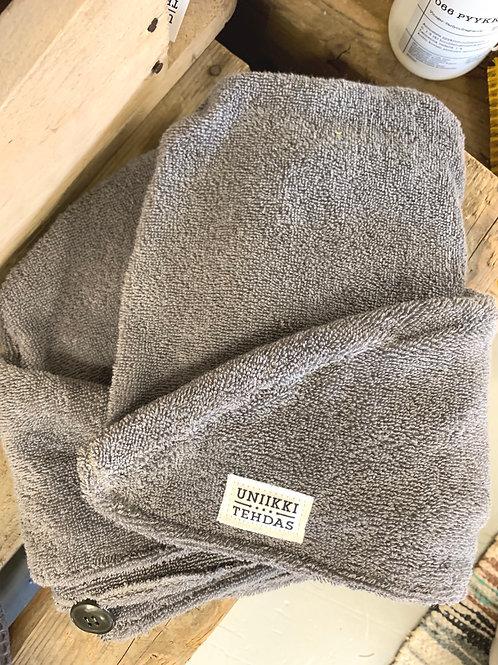 Pyyheturbaani harmaa