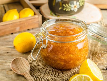 Hořkosladká citronová domácí marmeláda s vanilkou a hřebíčkem
