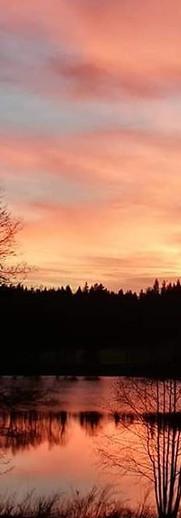 Krásný západ slunce nad Chytrovem