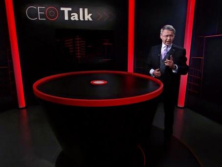 Stehtisch für den «CEO Talk» auf Tele Züri