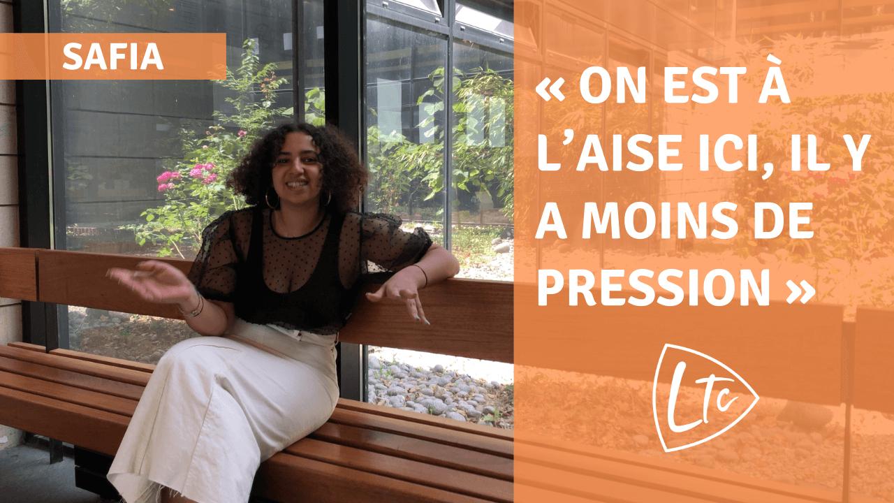 Safia parle du lycée du TempsChoisi