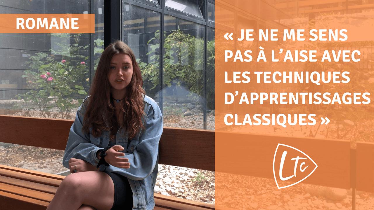 Romane parle du lycée du TempsChoisi