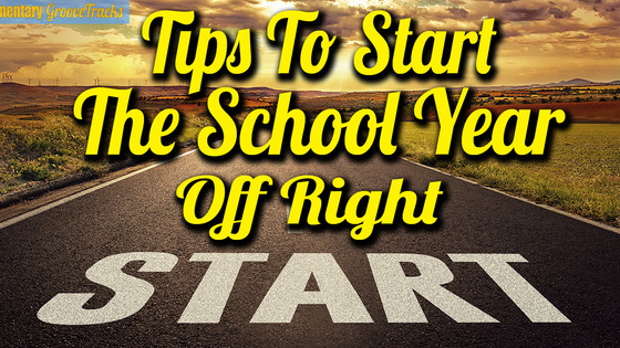 Tips To Start The School Year Off Right