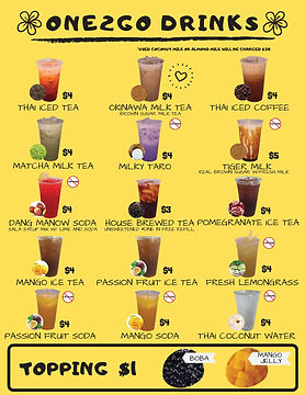 Our cocktail and food menus are available online at www.reallygreatsite.com. Want a guaran