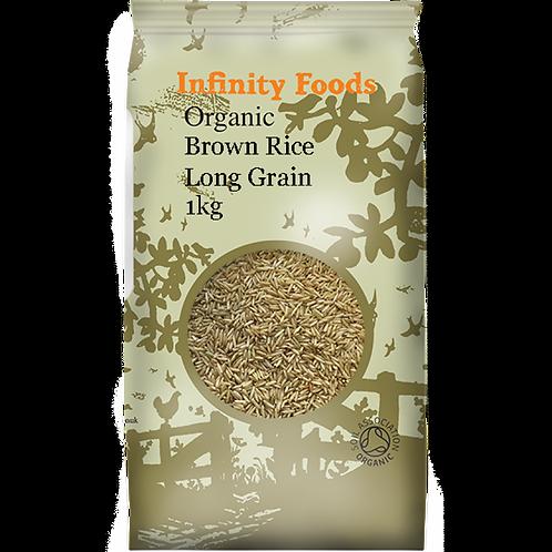 Organic Brown Rice Long Grain - 1kg
