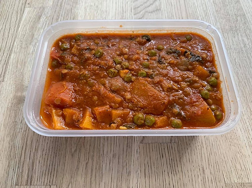 Home Cooked Vegetable Curry - Approx. 500g 1 Large Portion