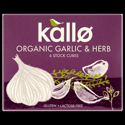 Organic Garlic & Herb Stock Cubes x 6 - 66g