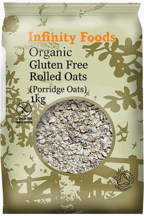 Organic Gluten-free Rolled Oatflakes (Porridge Oats) - 1kg
