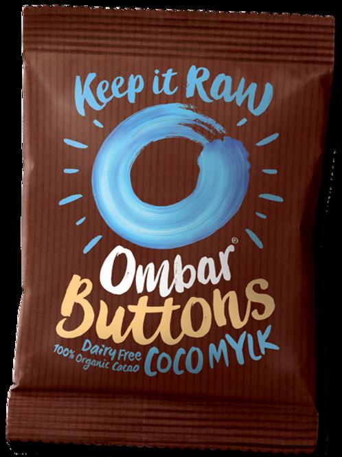 Organic Raw Mylk Vegan Chocolate Buttons - 25g Bag