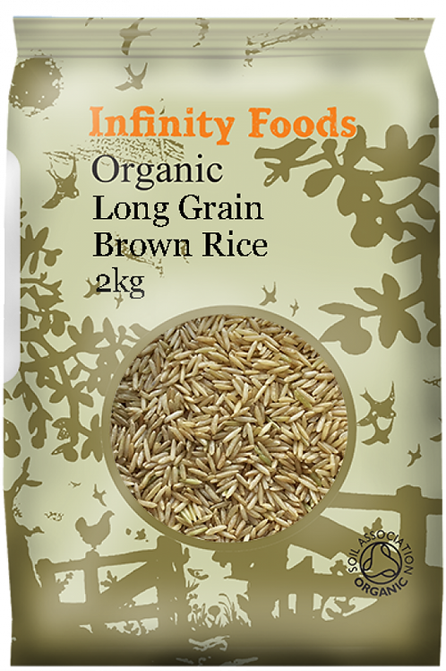 Organic Brown Rice Long Grain - 2kg