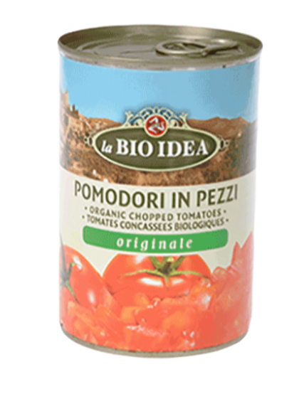 Organic Tomatoes - chopped in tins - 400g