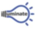 Illuminate, light-bulb logo.
